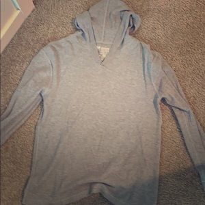 Gap hooded long sleeve shirt Gray L men's
